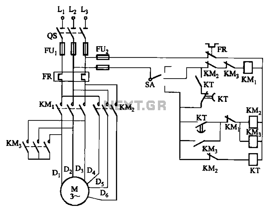 Automations motor control circuits 2y connection three two speed 2y connection three two speed motor contactor control circuits schematic asfbconference2016 Gallery