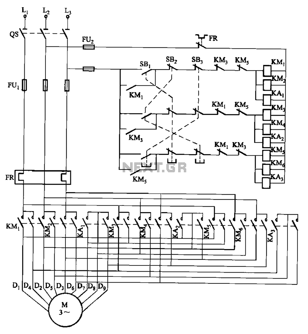 Motor Control Circuit Page 5 Automation Circuits 8051 8052 2 Microcontroller Nextgr 2y Connected Three Speed Contactor