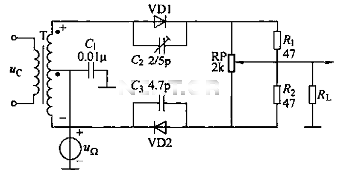 AM balanced diode circuit - schematic