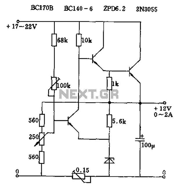u0026gt  power supplies  u0026gt  adjustable output voltage of the series regulator circuit diagram l59931