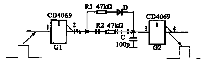 And broadening the delay circuit - schematic