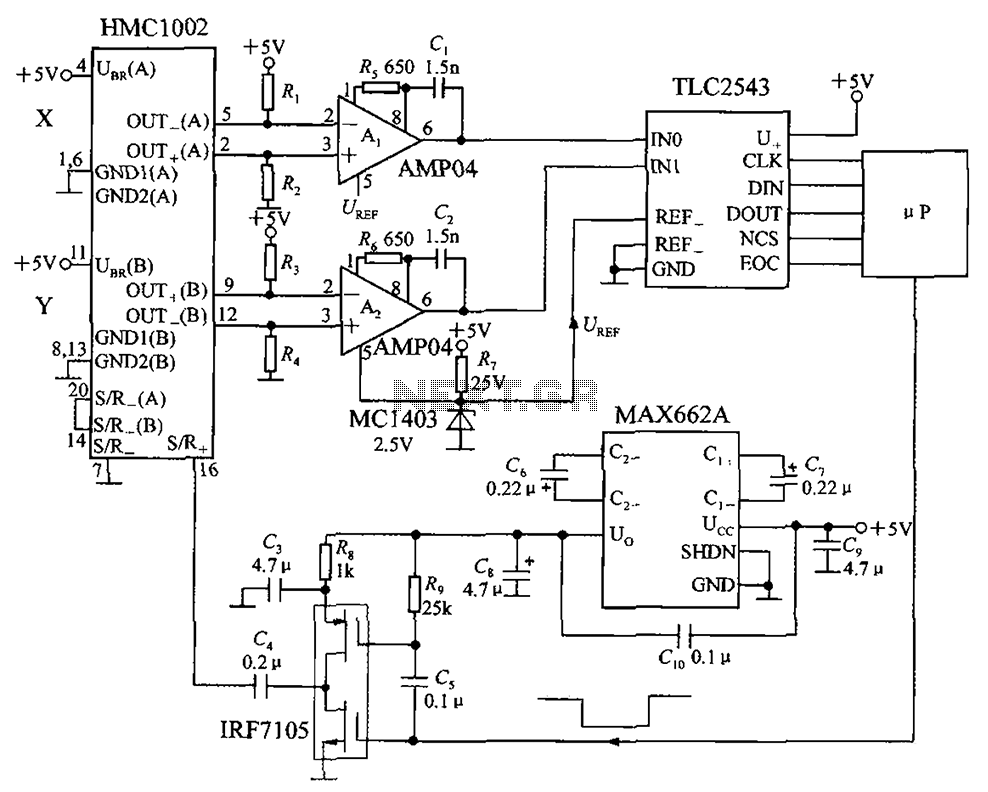 application circuit biaxial magnetic field sensor