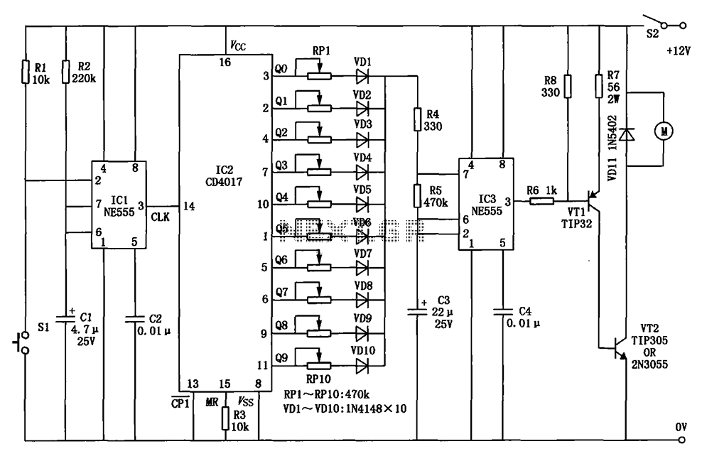 Automobile wiper speed control circuit diagram - schematic