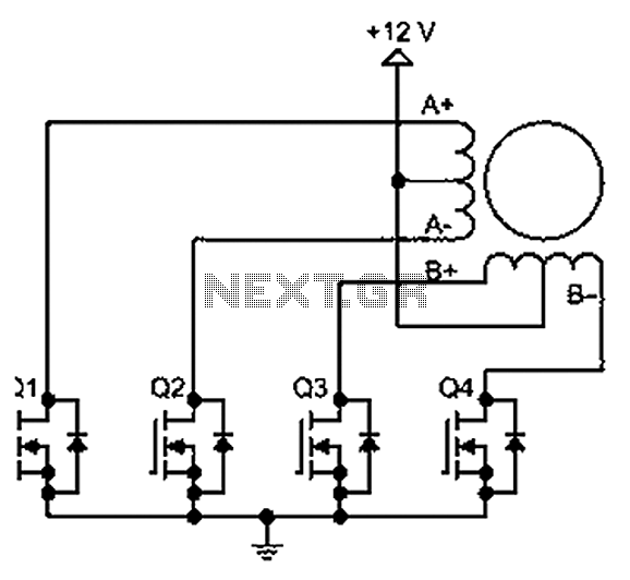 stepper motor circuit : automation circuits :: next.gr, Wiring block