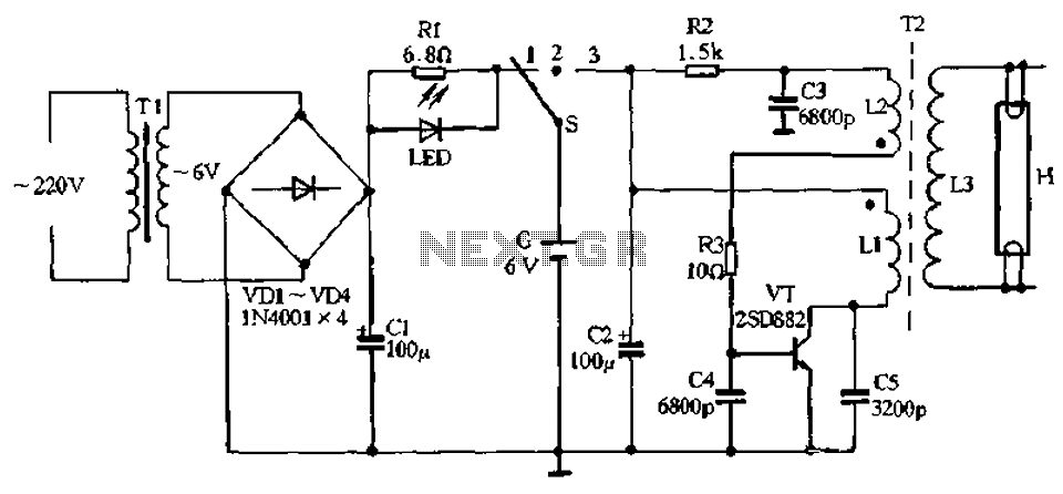 Blackout emergency lights 4 - schematic