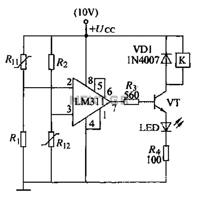 Boiler control circuit - schematic