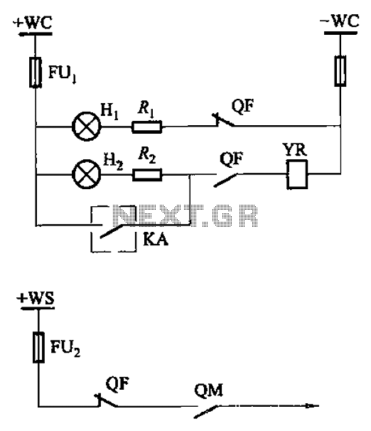 Breaker control signal circuit manually - schematic
