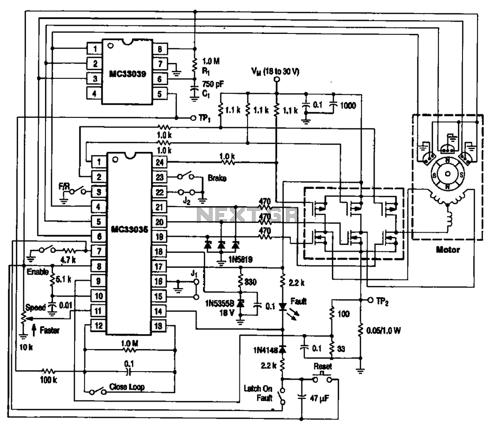 brushless motor circuit diagram