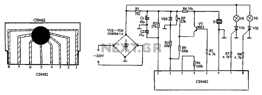 CS9482 holiday lights ASIC - schematic