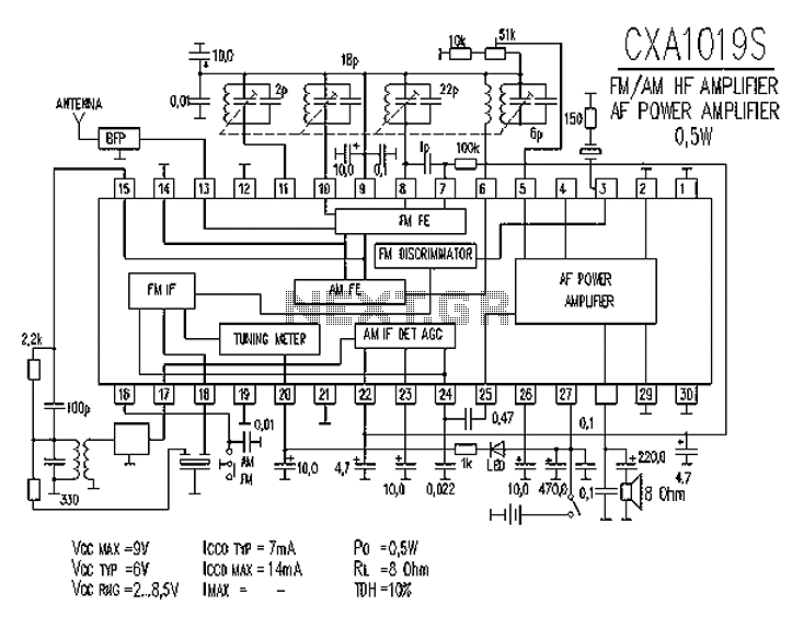 CXA1019S FM AM radio circuit diagram am radio circuit rf circuits next gr Aftermarket Radio Wiring Diagram at crackthecode.co