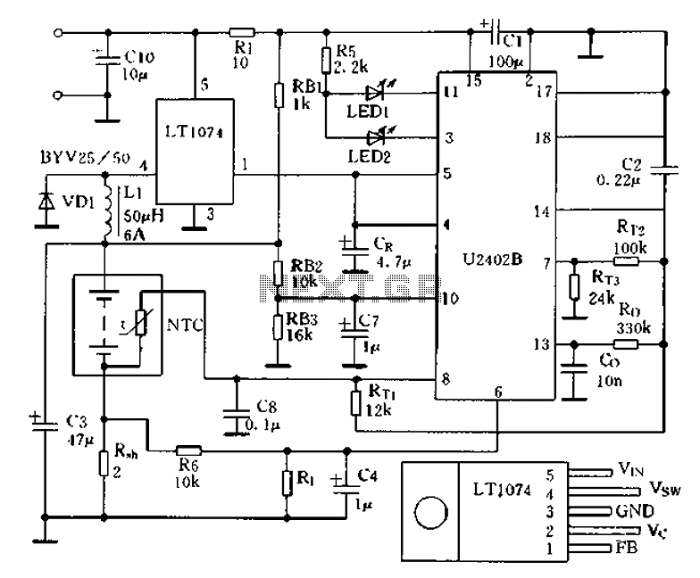charging circuit from the dc power supply switching power