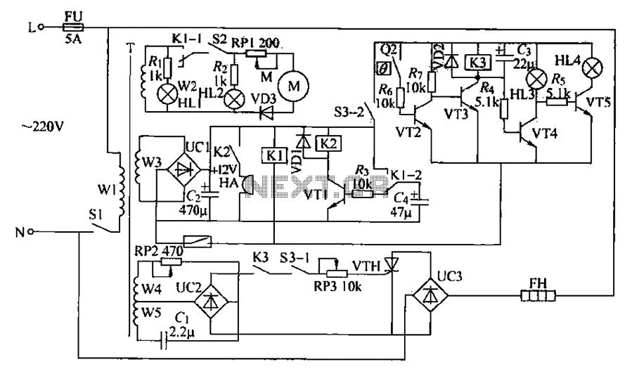 Chemical mixer circuit - schematic