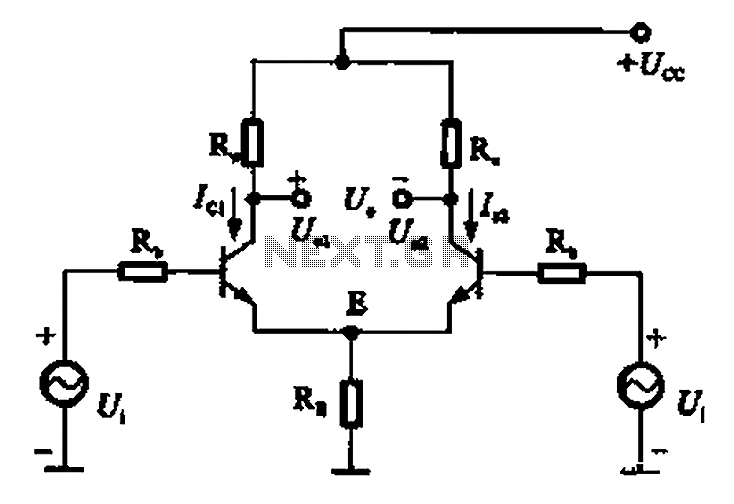 Common mode signal of emitter-coupled differential amplifier circuit a