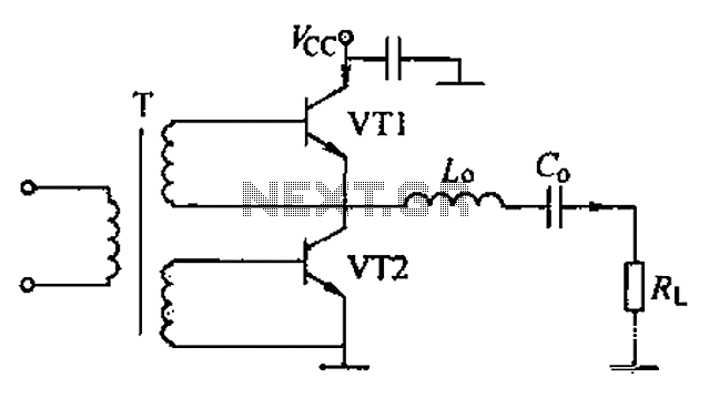 Complementary voltage switching Class D amplifier circuit - schematic