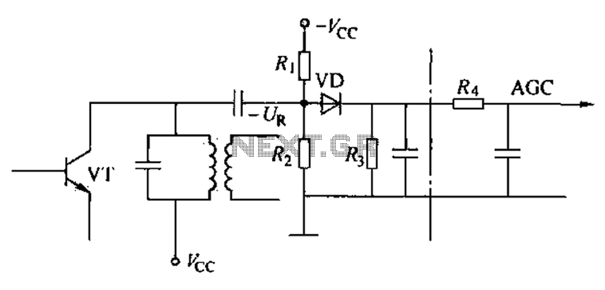 Delayed type AGC circuit diagram of principle