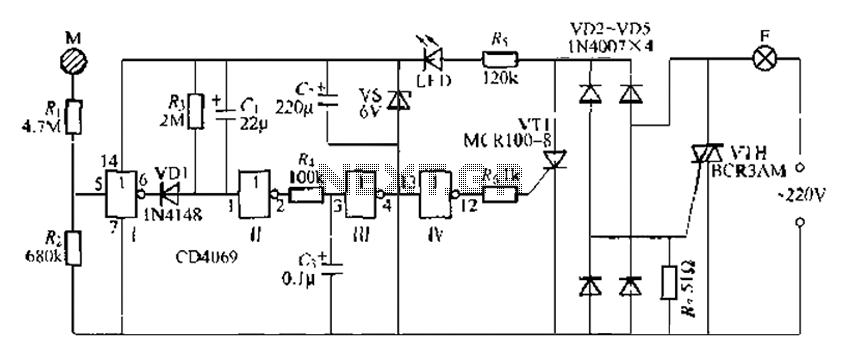Digital circuit touch delay circuit 3 - schematic