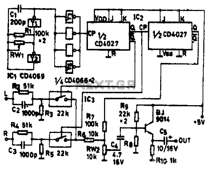 Discrete components stereo encoder circuit diagram - schematic