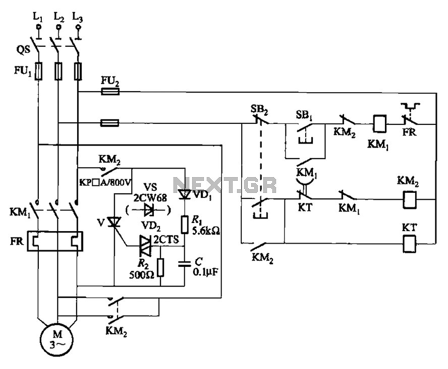 Dynamic braking circuit control thyristor - schematic