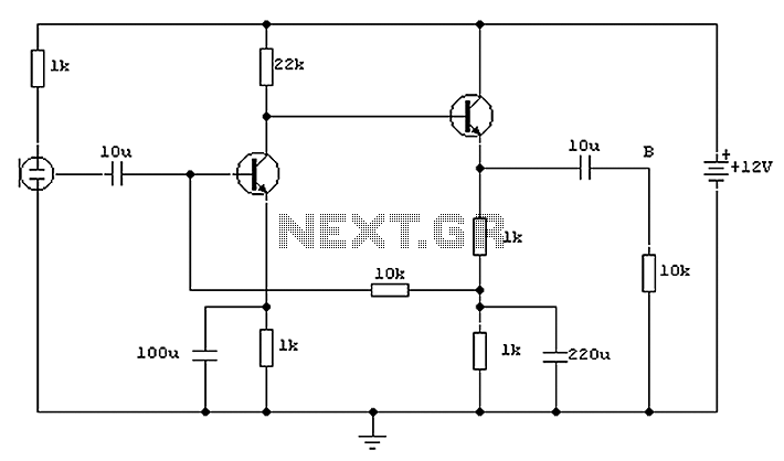 ECM microphone preamplifier - schematic
