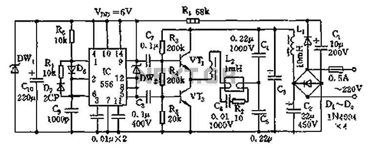 Electronic       Ballast       circuit       diagram    under Light Laser LED    Circuits    60088   Nextgr