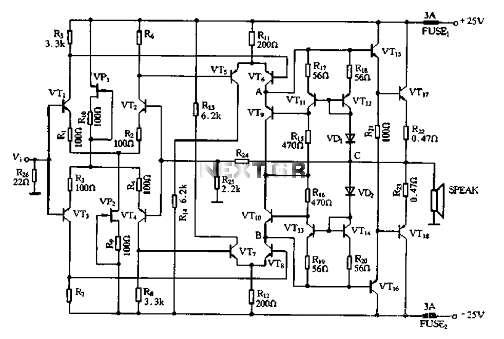 u0026gt  other circuits  u0026gt  full complementary symmetry amplifier