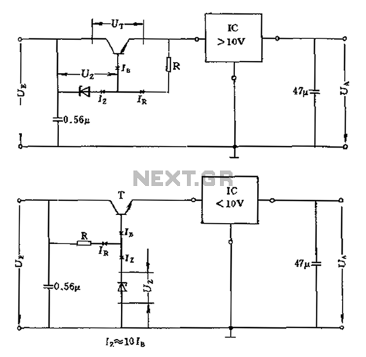 High operating voltage regulator circuit diagram