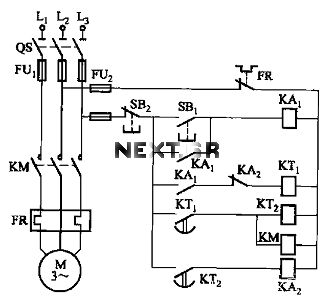 Intermittent one start and stop cycle control circuit - schematic