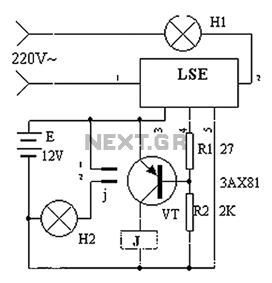 LES produced using blackout emergency lighting - schematic