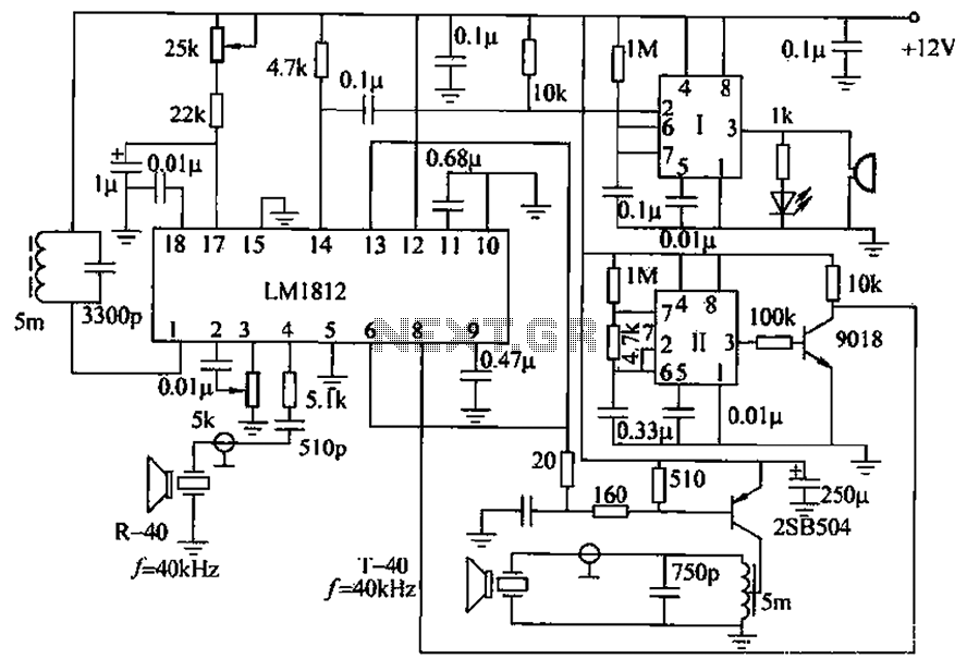 lm1812 uses ultrasonic anti-collision circuit design under ultrasonic circuits