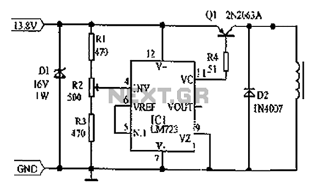 car alternator diagram with Lm723 Voltage Regulator Circuit Diagram Consisting Of Cars L59813 on 02 Record likewise 1973 Corvette Horn Diagram further Jump Starting A Flat Battery likewise 767752 Vacuum Four Way Splitter 1987 S4 likewise LM723 Voltage Regulator Circuit Diagram Consisting Of Cars L59813.