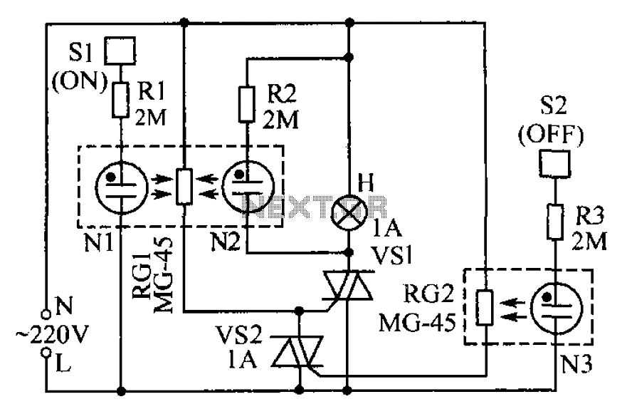 Lamp touch switch circuit diagram - schematic