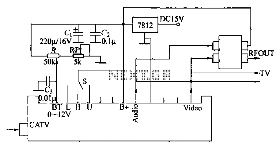 Limited TV channels to increase reception circuit - schematic