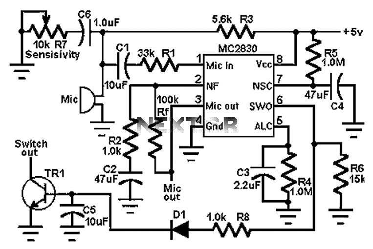 Low noise preamplifier circuit diagram of the speech - schematic