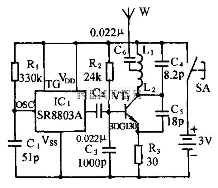 Micro Wireless Monitor FM FM transmitter circuit - schematic