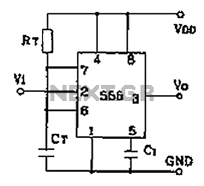 Monostable circuit diagram composed of two 555 - schematic