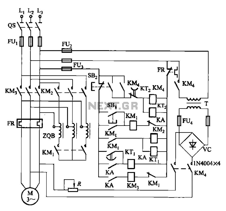 nine one-way operation of the dynamic braking circuit under other circuits