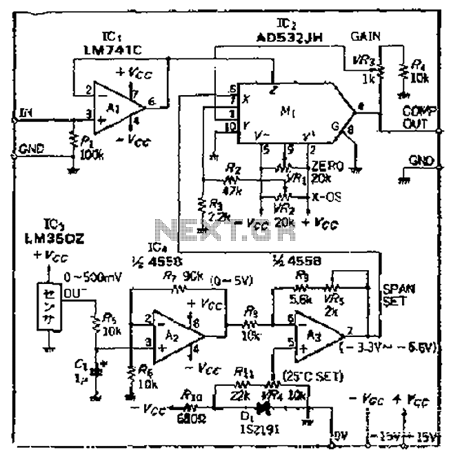 thermometer circuit page 3   meter counter circuits    next gr