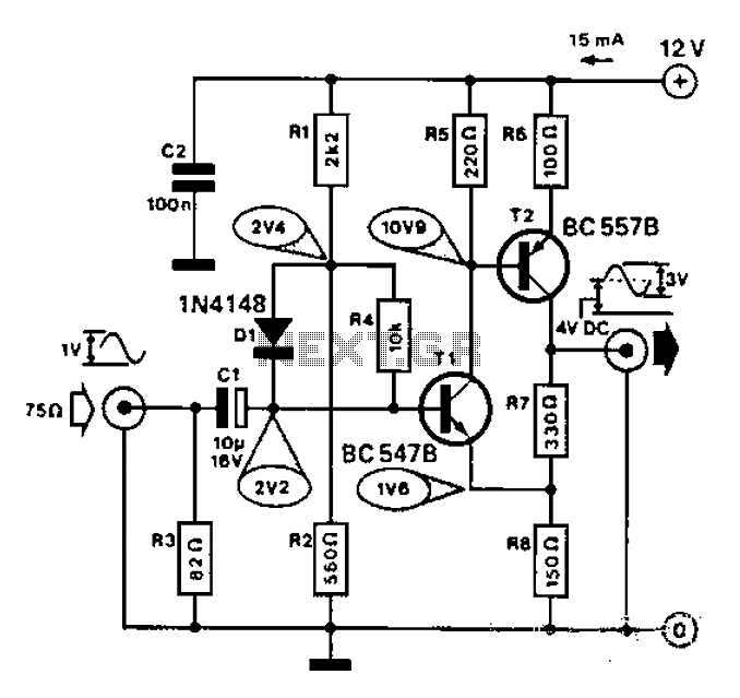 Broadband Operational Amplifier Amplifiercircuit Circuit Diagram