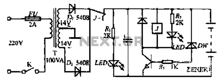 Since a power charger circuit - schematic