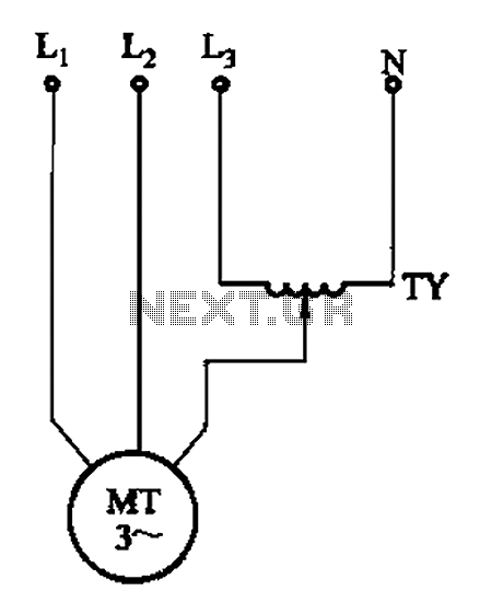 Single-phase torque motor speed control circuit 2 - schematic
