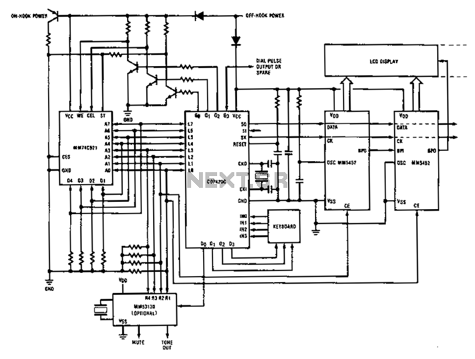 stock dial telephone line power supply circuit diagram
