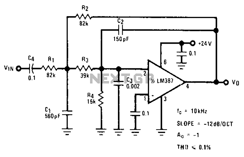 Stylus sand acoustic filter circuit diagrams - schematic