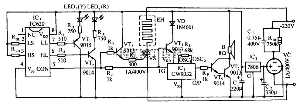 tc620 temperature sensor circuit diagram of automatic heatingtc620 temperature sensor circuit diagram of automatic heating temperature control
