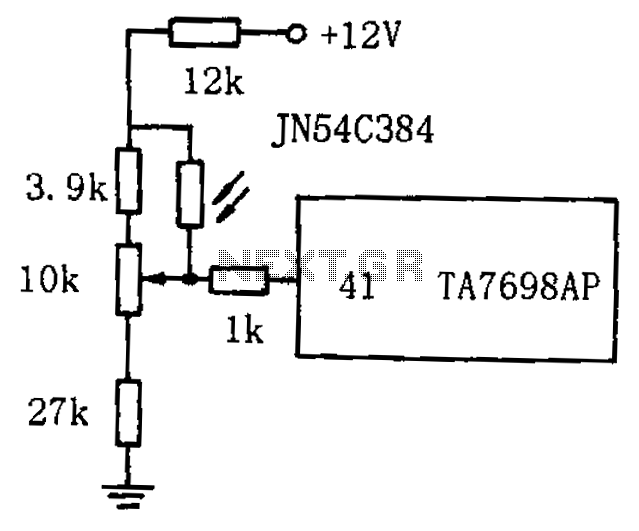 TV by the photosensitive resistor circuit diagram automatic brightness adjustment - schematic