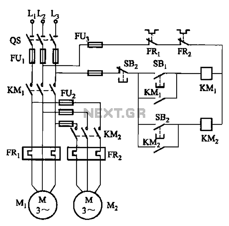 The main circuit in order to start the control circuit - schematic