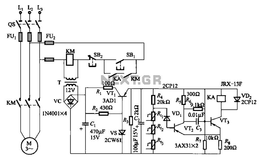 Three phase asynchronous motor PTC protection circuits automations \u003e motor control circuits \u003e three phase asynchronous ptc relay wiring diagram at bayanpartner.co