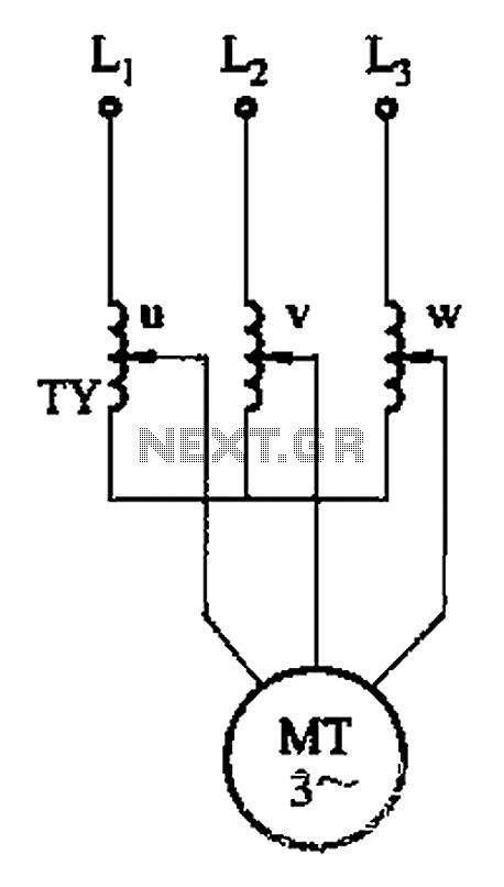 Three phase torque motor speed control circuit - schematic