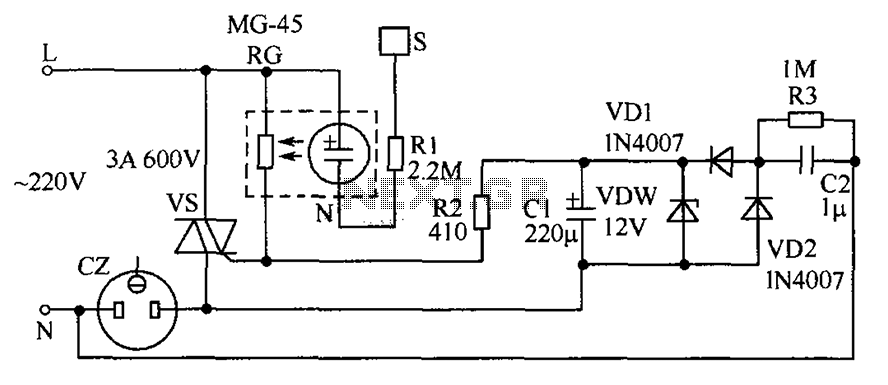Touch the socket circuit diagram