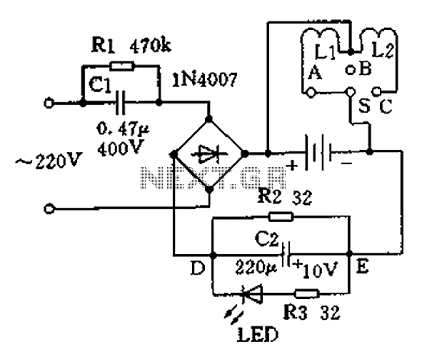 Trickle charger circuit schematics - schematic