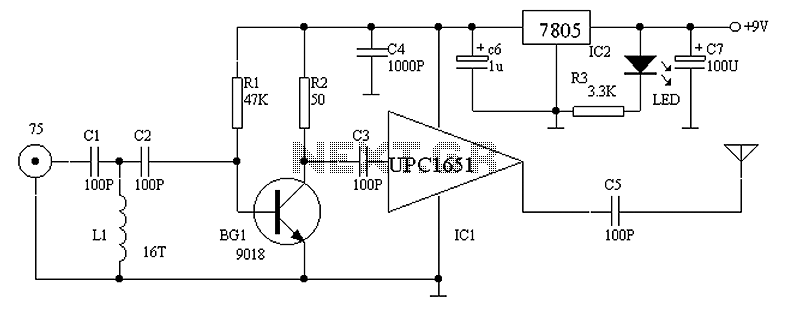 video > UPC1651 produced by small family video transmitter circuit ...